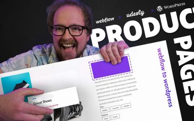 WordPress For Beginners – Udesly 3.0 – Webflow to WordPress – Converting product pages (First steps).