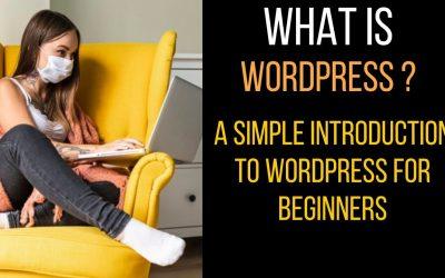 WordPress For Beginners – What is WordPress? A Simple Introduction to WordPress for beginners